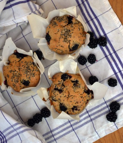 recette Muffins vegan aux mûres