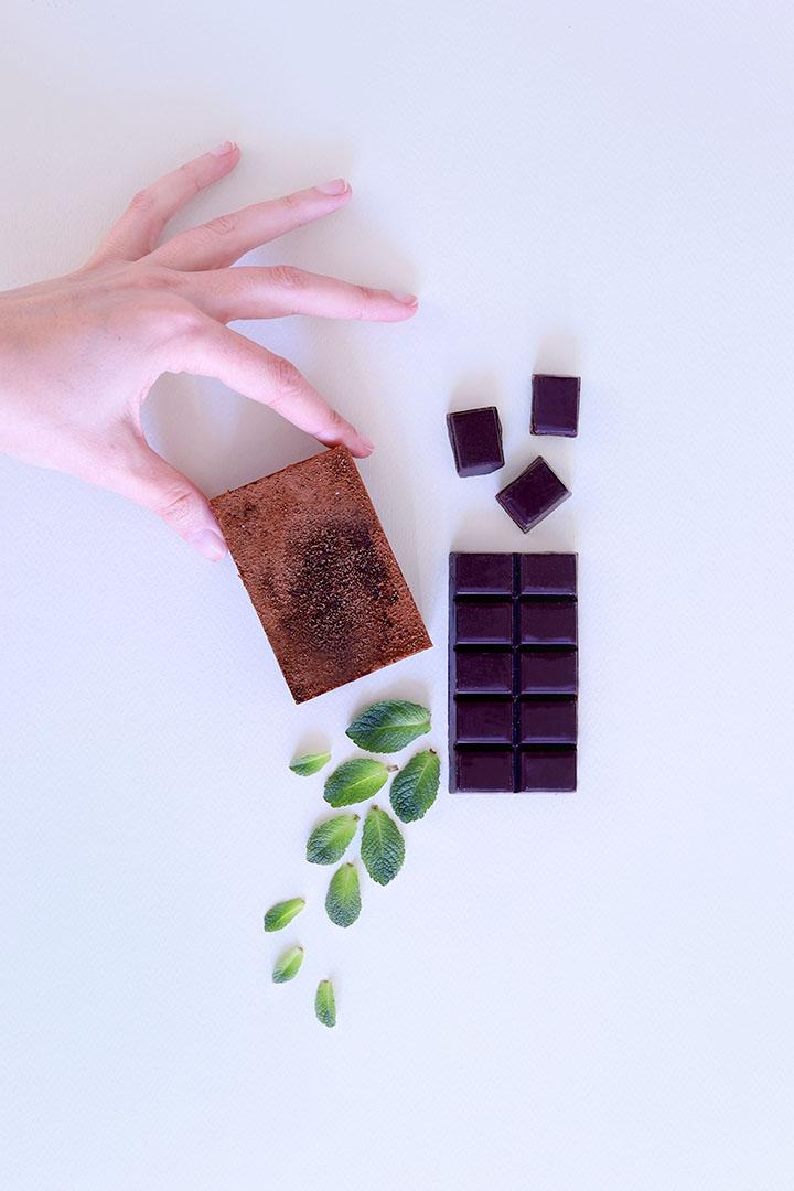 Recette de savon sans soude à base de chocolat et de menthe