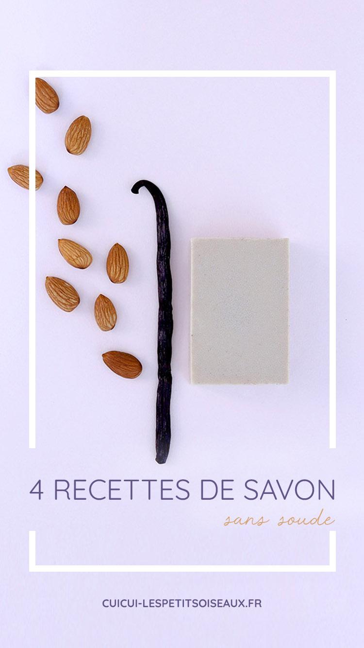 4 recettes de savon faits maison sans soude caustique