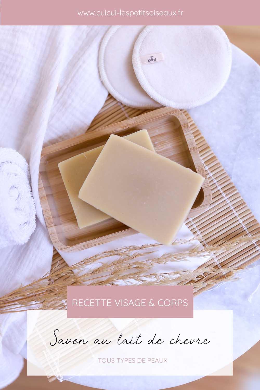 Apprendre à faire un savon saponifié à froid à base de lait de chèvre.