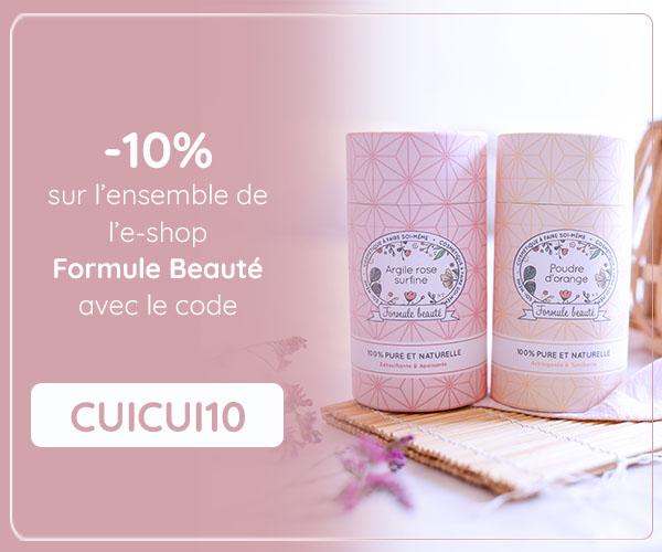 Code promo de -10% sur l'e-shop Formule Beauté