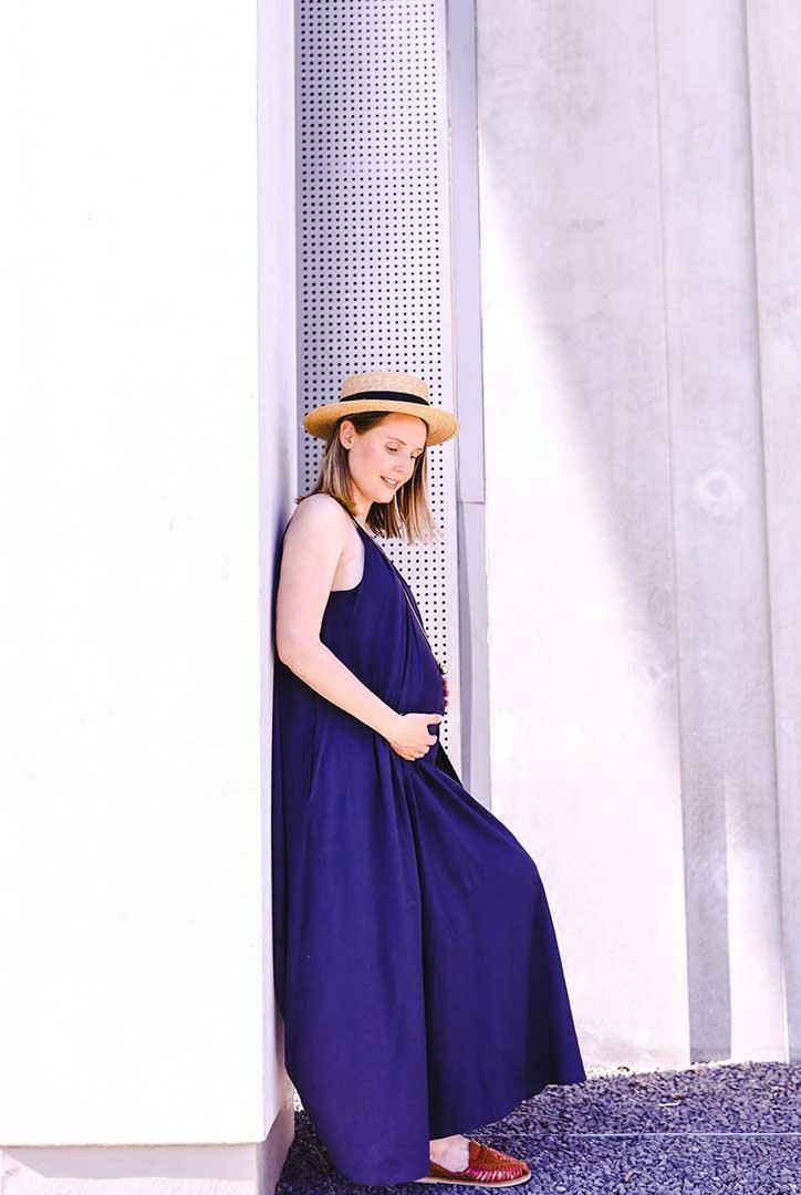 Robe longue de grossesse et d'allaitement Boob Design.