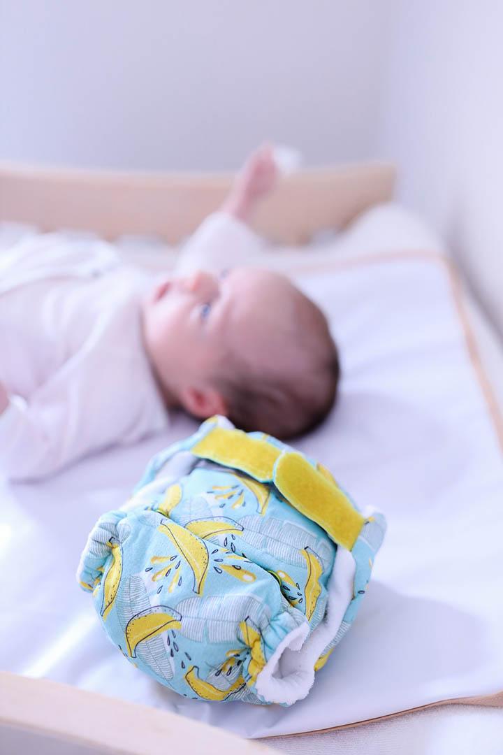 J'utilise les couches lavables Wua-Wua pour le change de ma fille.