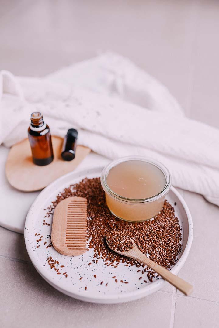Le gel de graines de lin pour prendre soin de sa peau.